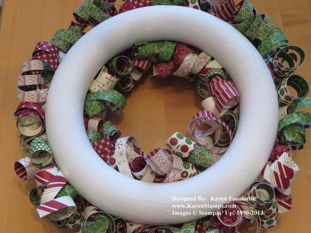 Be of Good Cheer Curly Paper Wreath Back