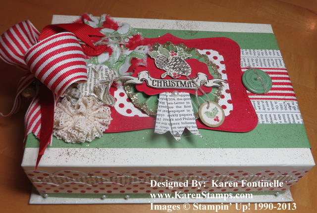 Decorated Christmas Box