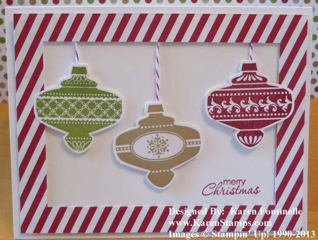 Christmas Collectibles Ornament Christmas Card