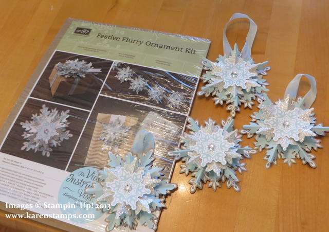 Festive Flurry Ornament Kit from Stampin' Up!