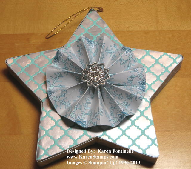 Paper Mache Winter Frost Star