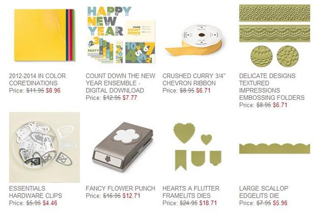 Stampin' Up! Weekly Deal Dec 24 2013