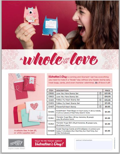 A Whole Lot of Love Stampin' Up! Valentines