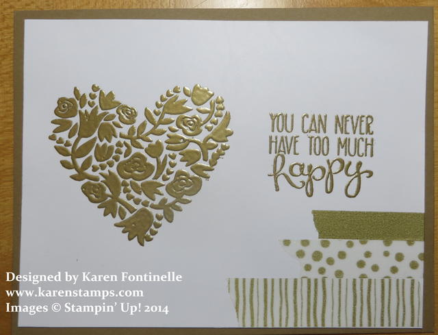 Flowerfull Heart Gold Card