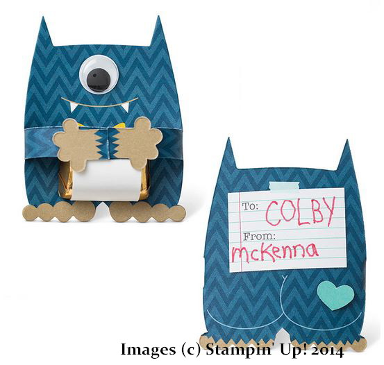 Stampin' Up! Monster Hugs Boy Valentine