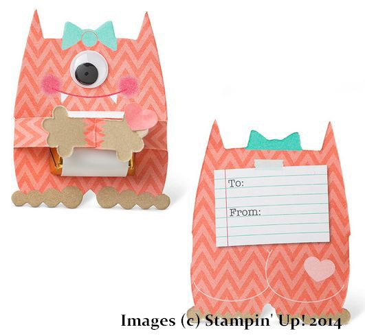 Stampin' Up! Monster Hugs Girl Valentine