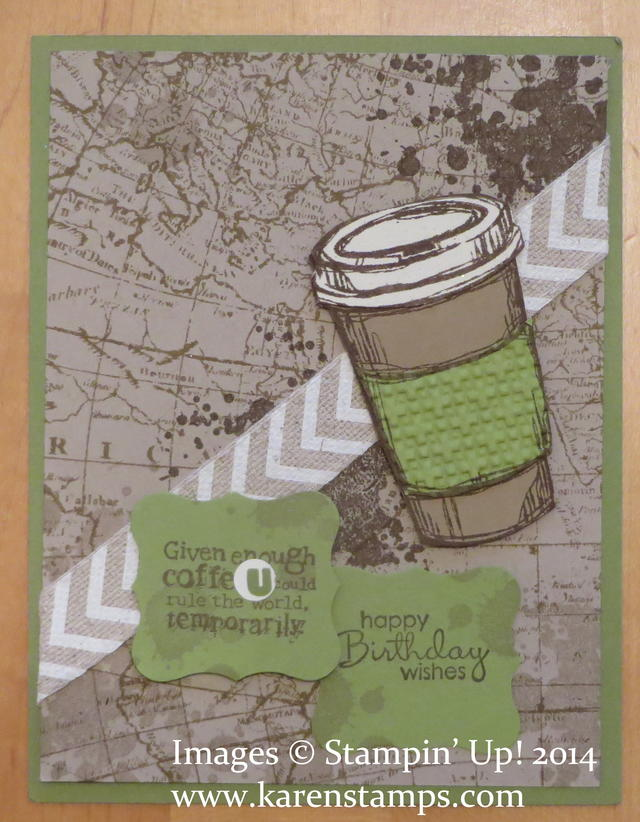 Perfect Blend Coffee Cup Card