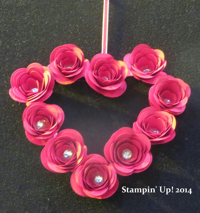 Spiral Flower Rose Heart Wreath
