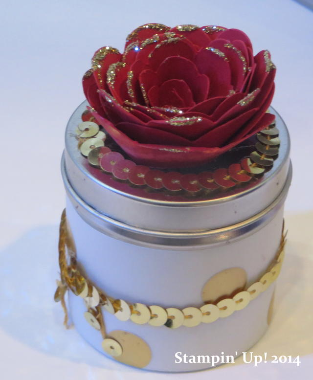 Spiral Flower Die Rose Tin