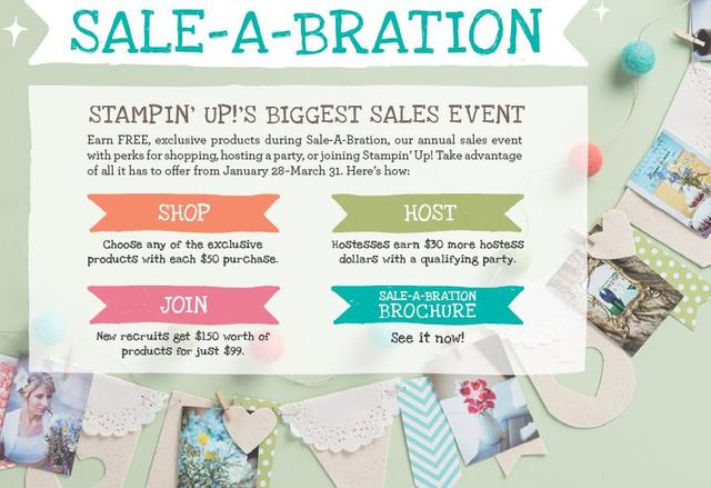 Stampin' Up! Sale-A-Bration 2014 Promotion