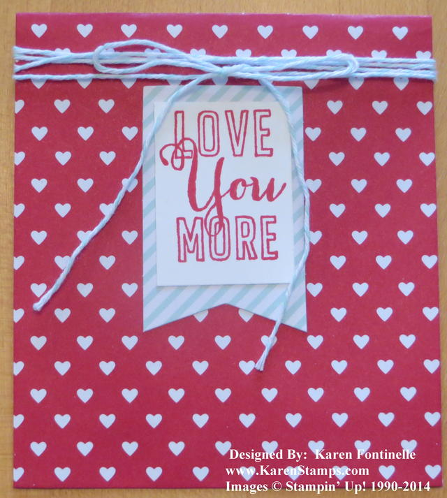 Stampin' Up! Sweetheart Treat Bag
