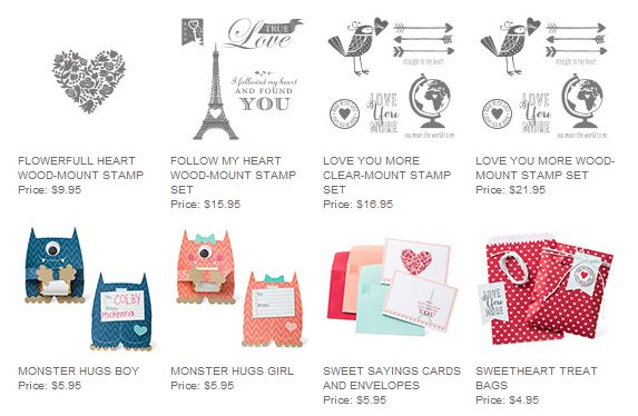 Stampin' Up! Valentine Products