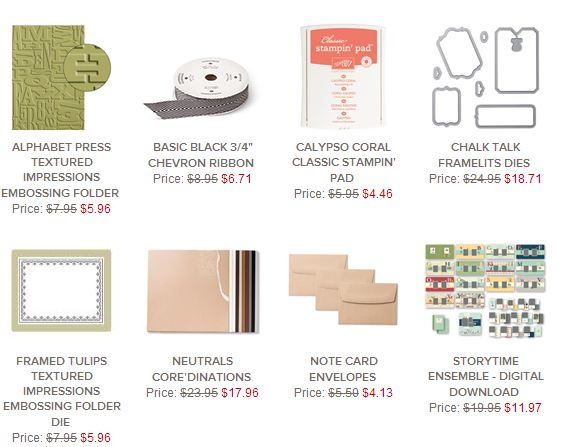 Stampin' Up! Weekly Deal Jan 14 2014