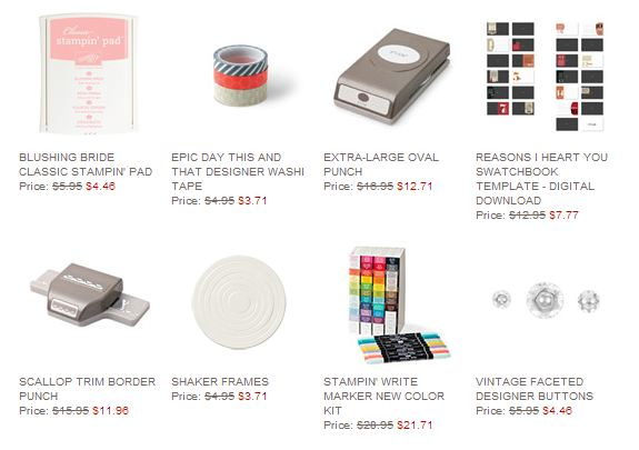 Stampin' Up! Weekly Deal Jan 21 2014