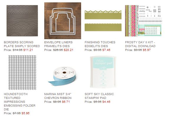 Stampin' Up! Weekly Deal Jan 7 2014