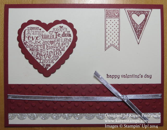 Cherry Cobbler Language of Love Valentine Card