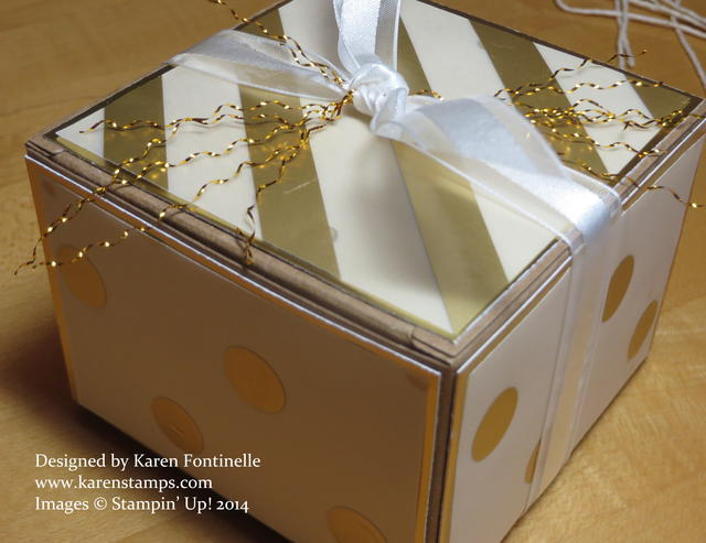 Gold Gift Box with Gold Frizzle