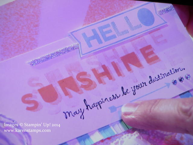 Sans and Stripes Sunshine Card