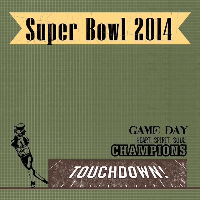Super Bowl 2014 Scrapbook Page