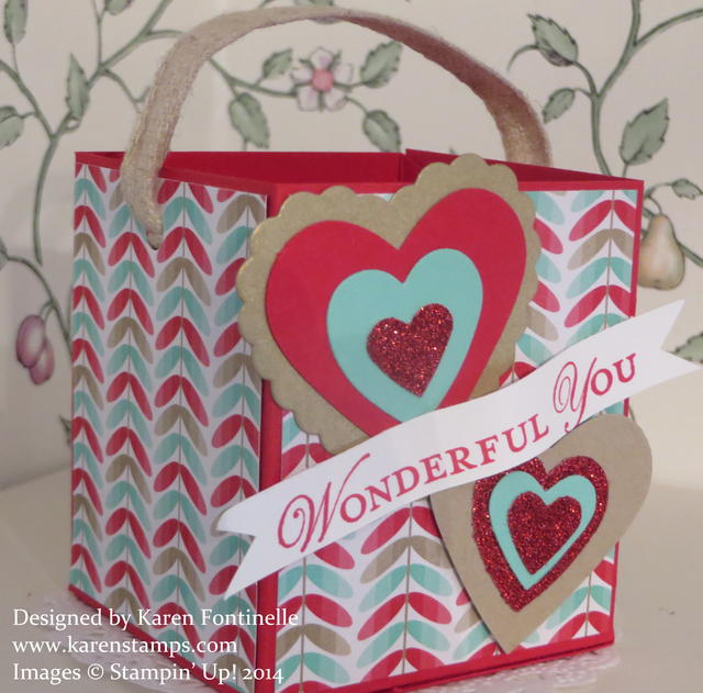 Valentine Box with Hearts