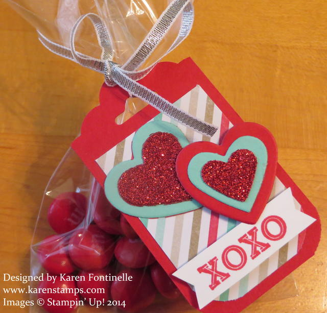 Valentine Treat Bag with Hearts Tag