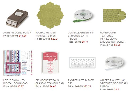 Stampin' Up! Weekly Deal February 11 2014