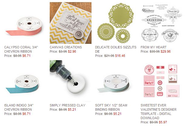 Stampin' Up! Weekly Deal February 3 2014