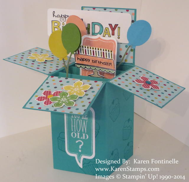 Birthday Pop Up Box Card