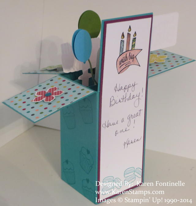 Birthday Pop Up Box Card Back Greeting