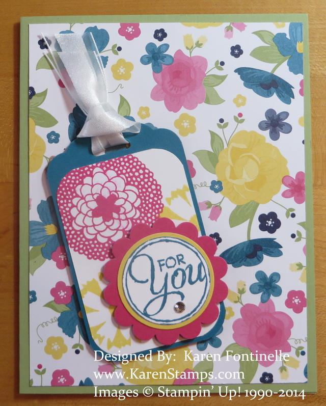 Gingham Garden Simple Card