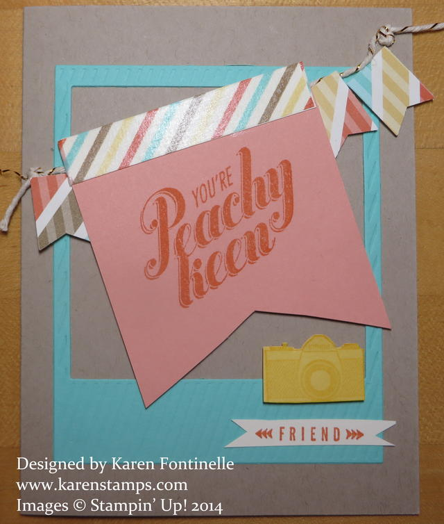 Stampin' Up! Peachy Keen Card