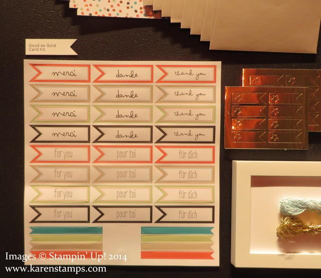 Sale-A-Bration Good As Gold Card Kit
