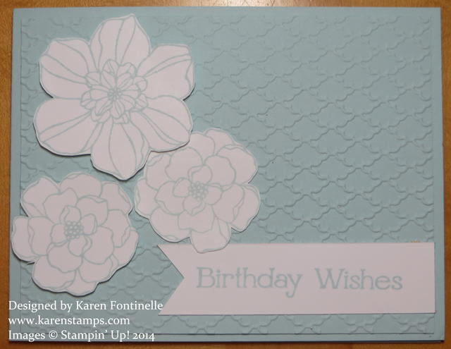 Secret Garden Soft Sky Monochromatic Birthday Card