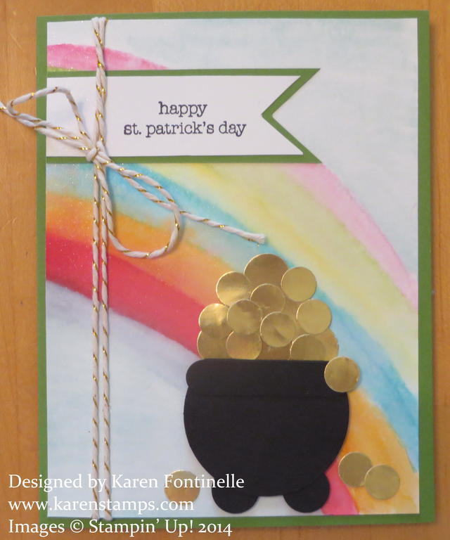 St. Patrick's Day Pot of Gold Rainbow Card
