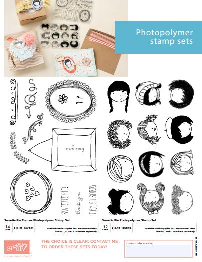 Sweetie Pie Photopolymer Stamp Sets