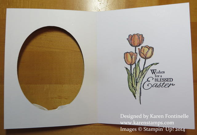 Blessed Easter Oval Card Inside