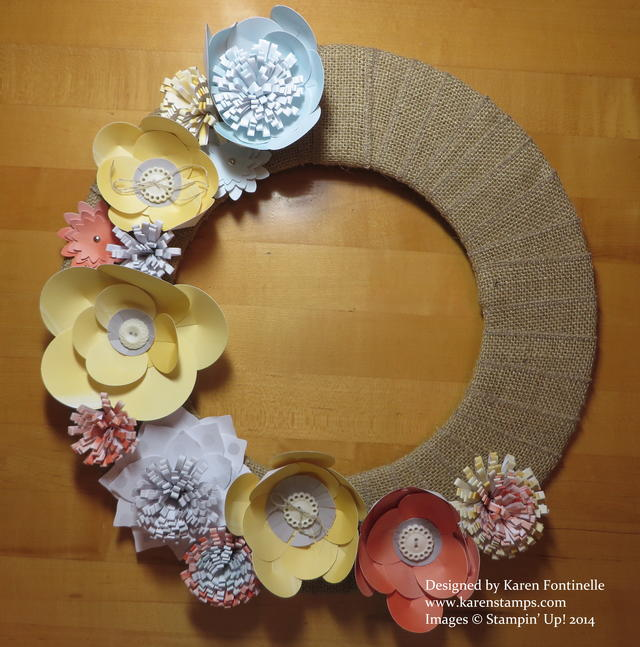 Burlap and Blooms Spring Wreath