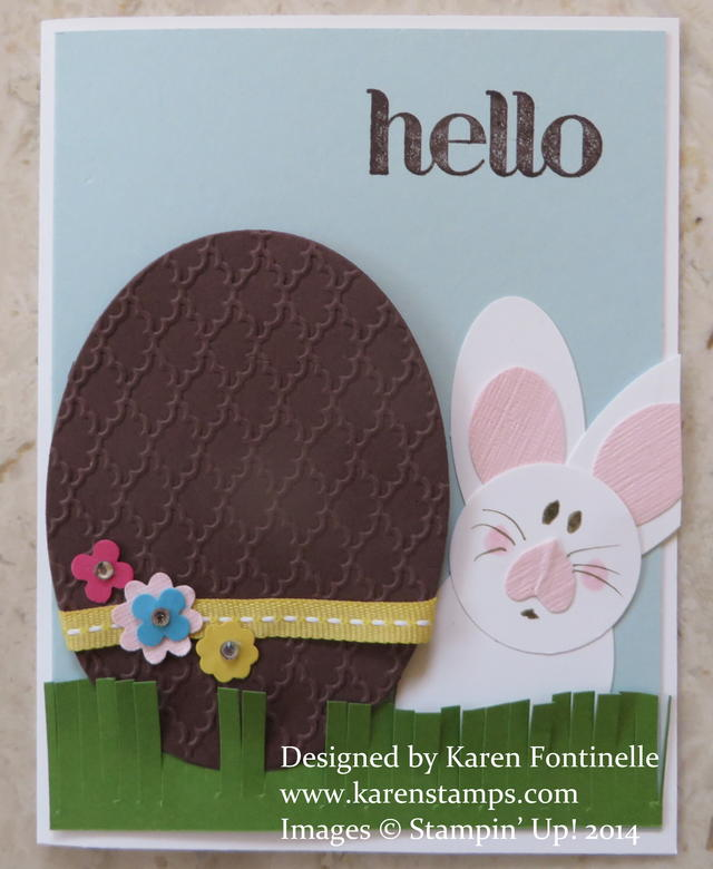 Chocolate Egg Easter Card with Bunny
