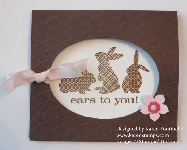 Ears to You Oval Easter Card