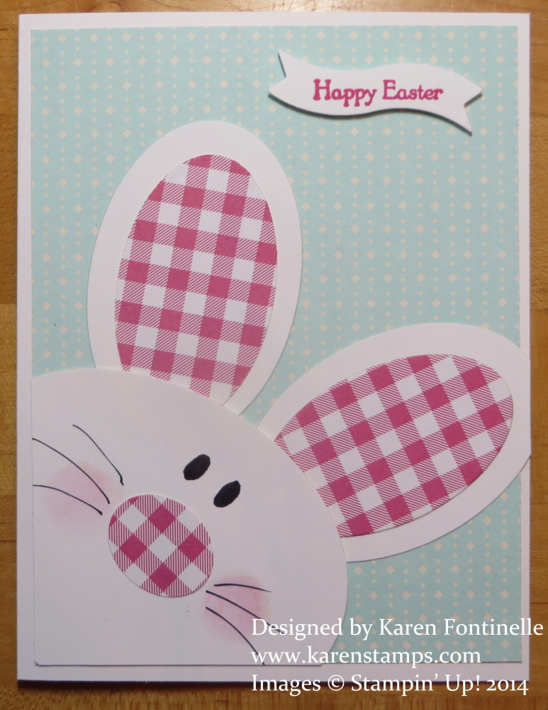 Easter Stamping With Karen – How to Make a Easter Card
