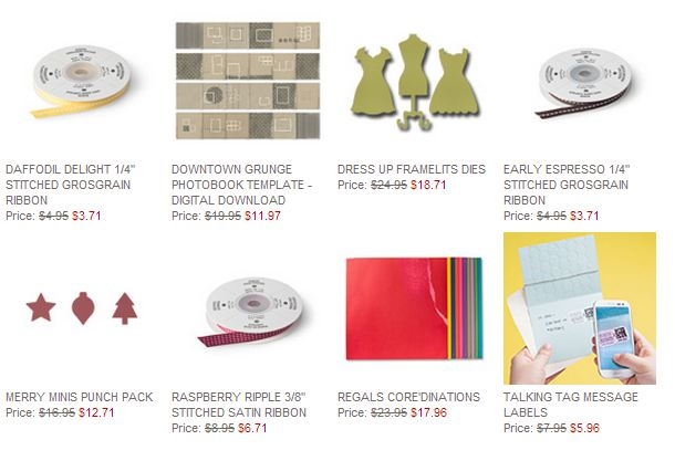 Stampin' Up! Weekly Deal April 29 2014