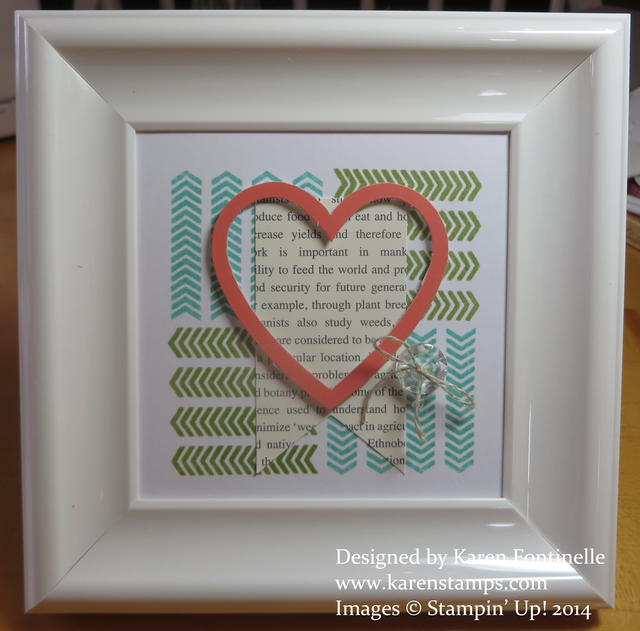 April Paper Pumpkin Kit Framed Love