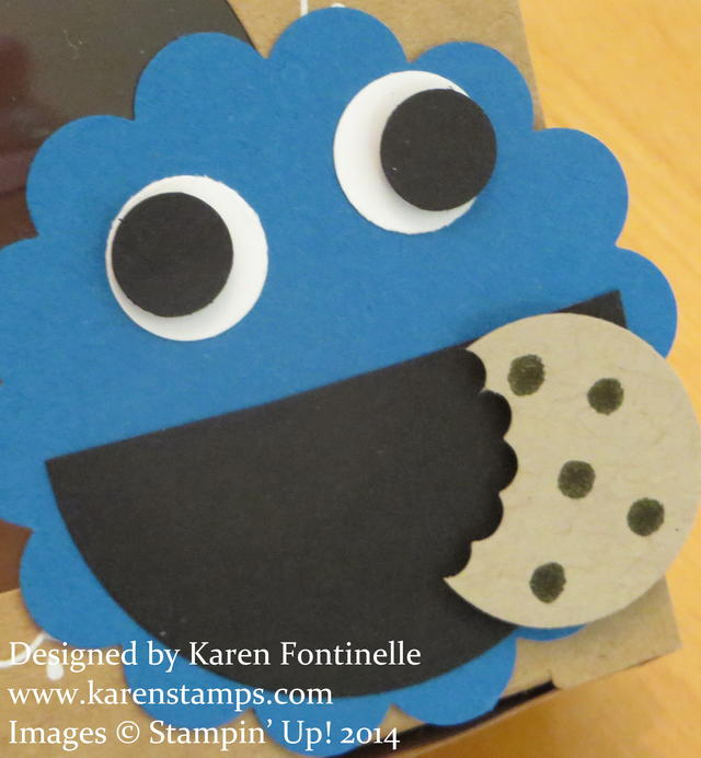 Cookie Monster Punch Art Close-up