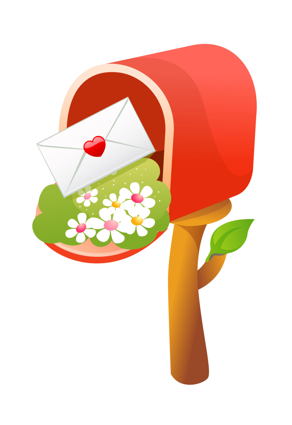 Red Mailbox for Mailing List Sign Up