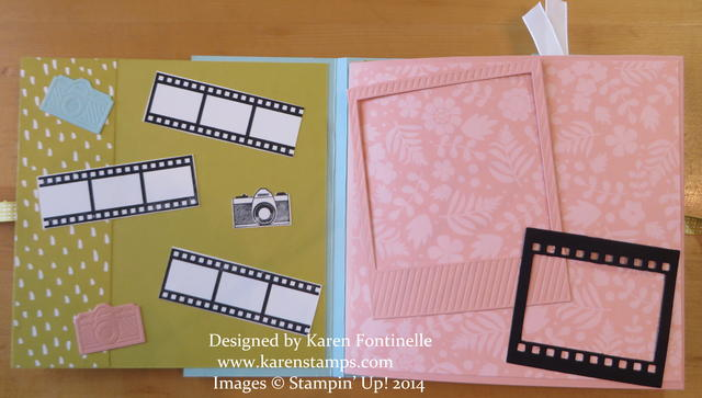Flip Album Decorated Pages on Film Framelits