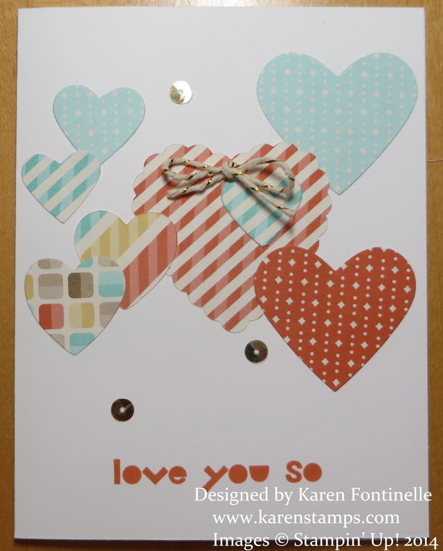 An Easy to Make Mother's Day Card With Hearts