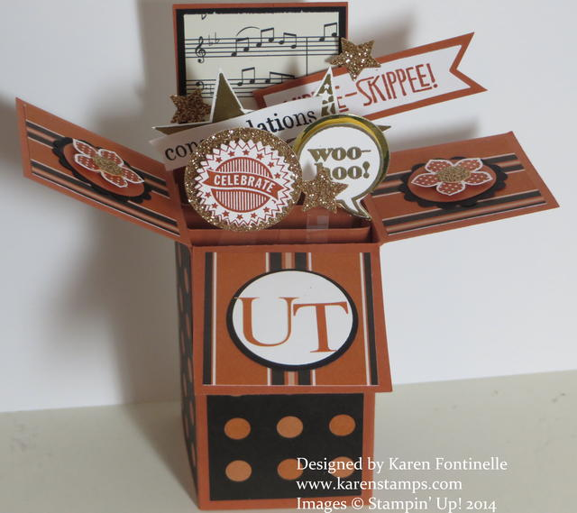 Pop Up Box Card UT Graduation