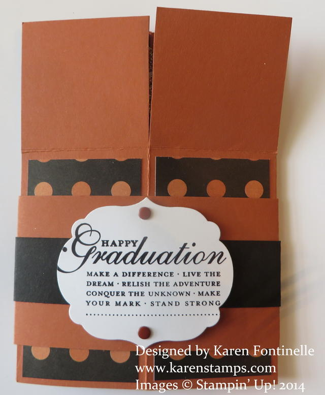Pop Up Box Card UT Graduation Folded