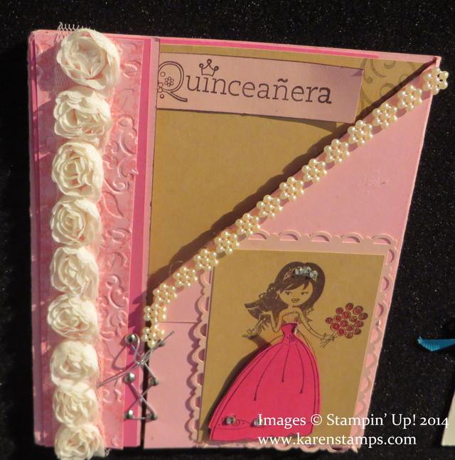 Celebrando Creatividad Quinceanera Pink Card