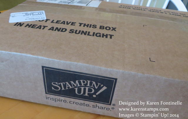 Stampin' Up! Shipped Box